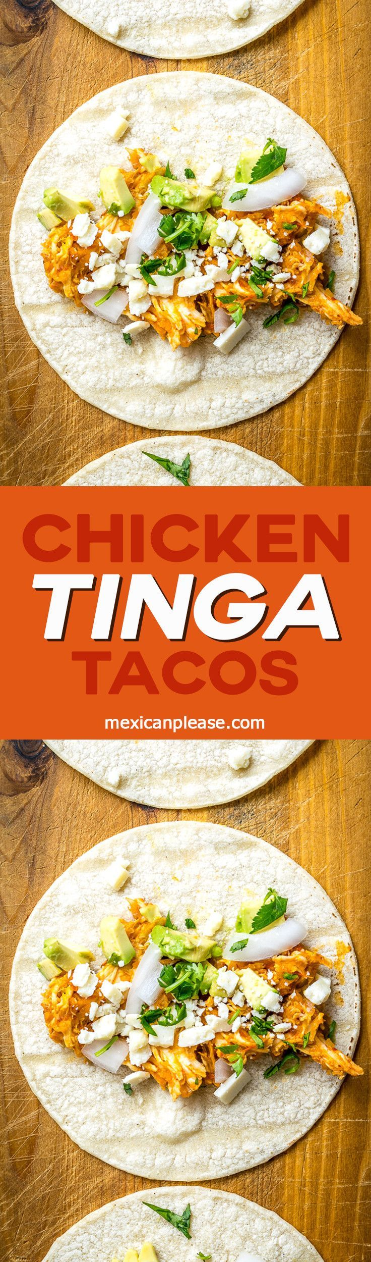 These Chicken Tinga Tacos have incredible flavor and definitely qualify as Tingalicious!!  http://mexicanplease.com