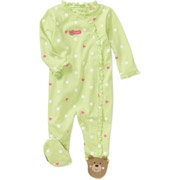 Child of Mine Carters Newborn Girls' Bear Dot Print Jumpsuit