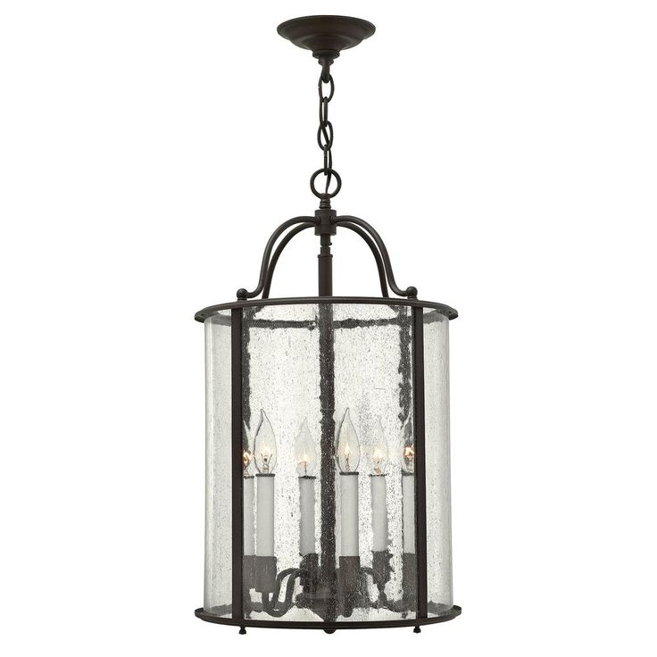 Hinkley lighting 3478 6 light full sized foyer pendant from the gentry collectio olde bronze indoor lighting pendants lantern