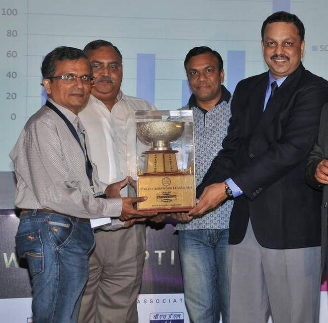 Chennai Ungal Kaiyil: Ramki Krishnan of Chennai attained a hat-trick at grand finale of the Indian Crossword League 2016, and won the Champion trophy. #LatestUpdates #Chennaiungalkaiyil.  Current Events in Chennai, Chennai Live News.
