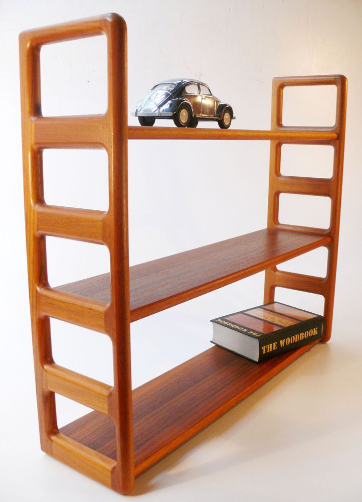 Eckregal Teak B 60er 70er Dyrlund Book Shelf Danish Teak Regal Eckregal