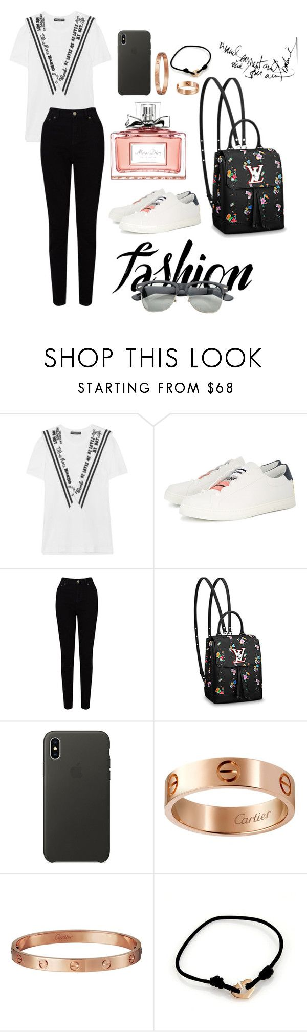 """Casual"" by pitaa29 on Polyvore featuring Dolce&Gabbana, Fendi, EAST, Apple, Cartier and Christian Dior"