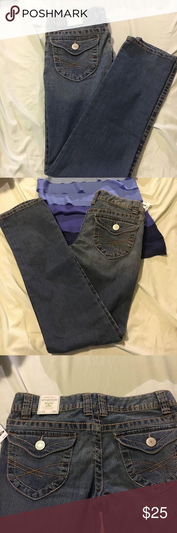 Bayla Skinny Jeans - Aeropostale NWT Super cute skinny jeans for Aeropostale. NWT!! Medium wash, regular length. Size 7/8 Aeropostale Jeans Skinny