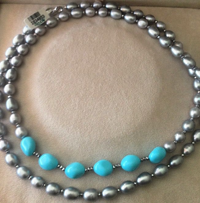 Freshwater pearls and turquoise Serkos for myhydraboutique