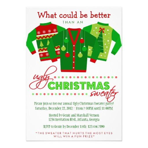 37 best images about Christmas Party Invitations – Custom Holiday Party Invitations