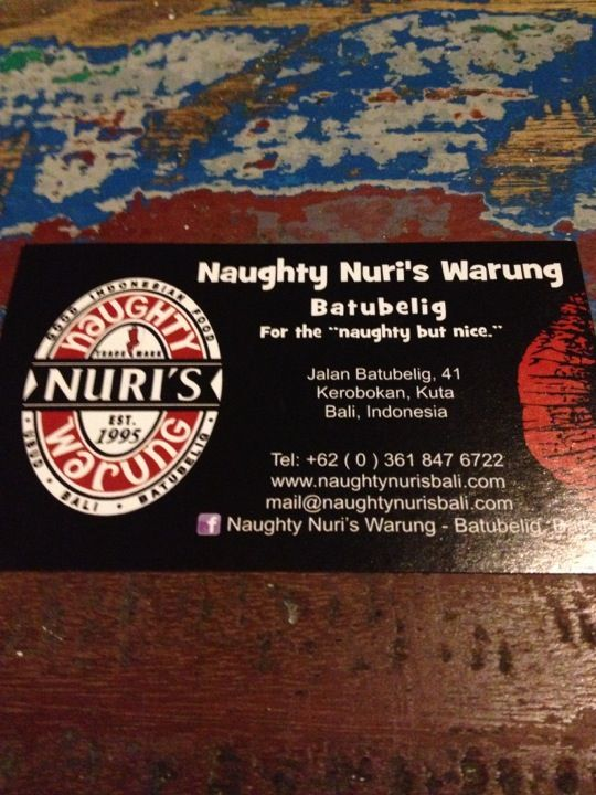 Naughty Nuri, Bali
