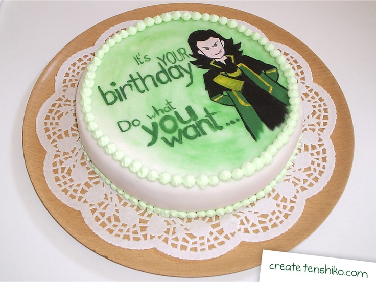8 best Cakes images on Pinterest Eat Loki art and 16th birthday