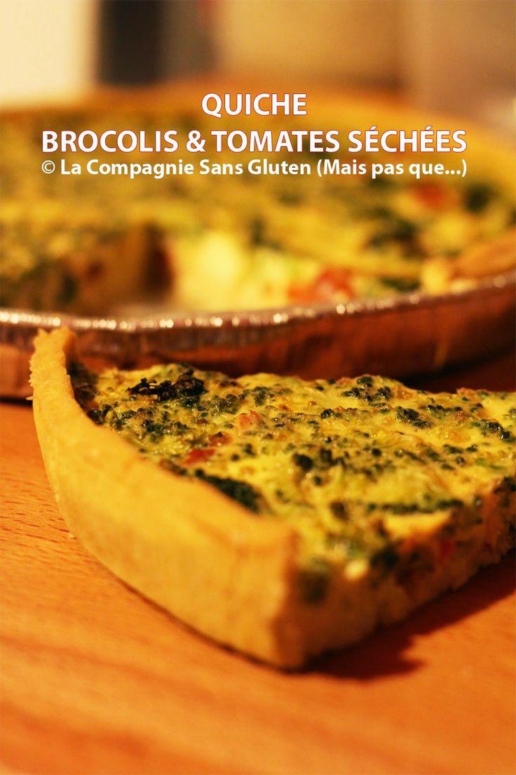 SANS GLUTEN SANS LACTOSE: Quiche aux brocolis et tomates séchées sans gluten et sans lactose