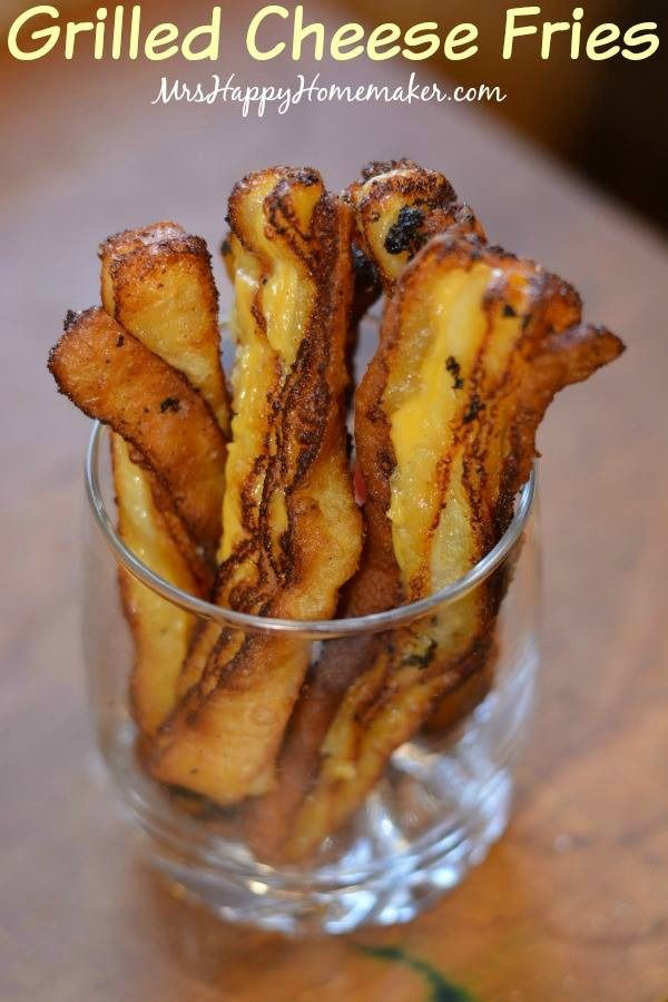 Grilled Cheese Fries. Only 2 ingredients til crispy, cheesy perfection!