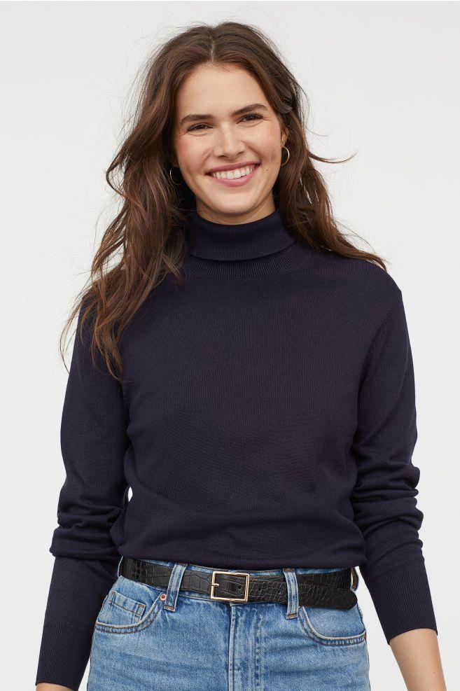 456b4c84184496 Fine-knit Turtleneck Sweater in 2019 | Capsule | Polo neck, Turtle ...