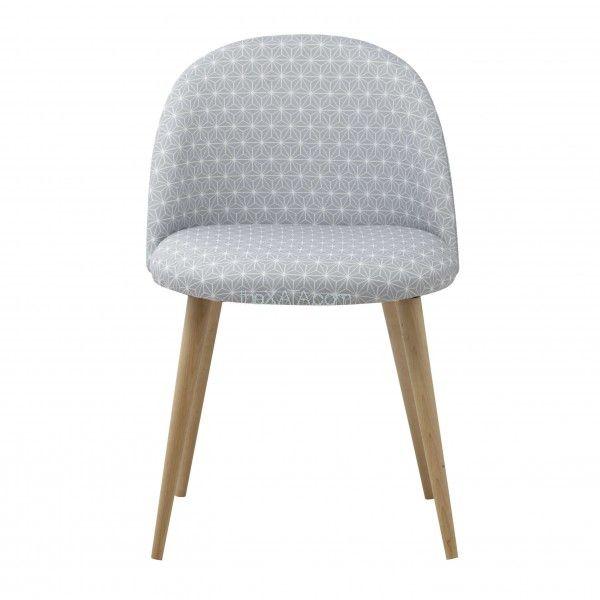 Стул MAURICETTE серый 138904 Maisons - Кресла с тканевой обивкой - Магазин TheXATA. Украина! - интересная мебель, аксессуары, яркий декор, ковры и шкуры зверей!