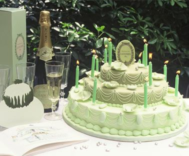 Laduree tiered cake...such a pretty color!  http://laduree.fr