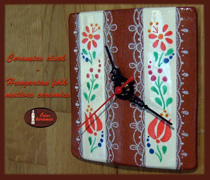 Hungarian folk motives ceramics