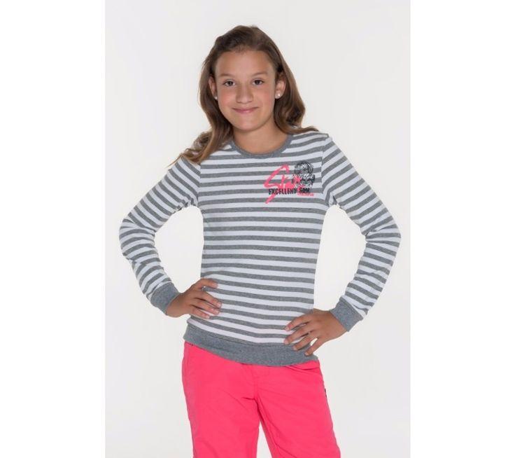 Dívčí pruhované triko s dlouhým rukávem Sam 73 | modino.cz #modino_cz #modino_style #style #fashion #sam73