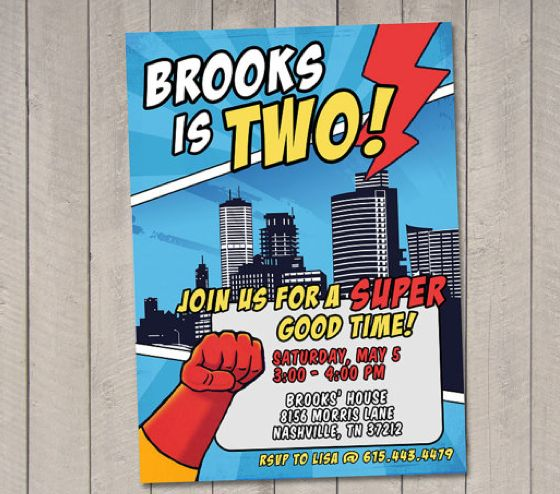 Kids Superhero Party Ideas The Ultimate Roundup Of Invitations