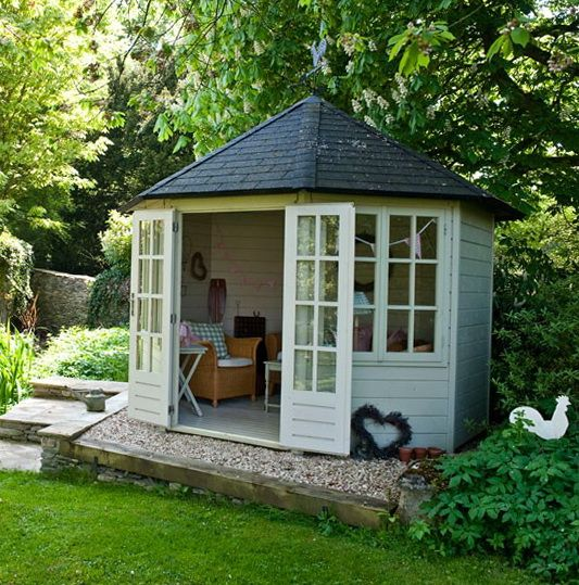 Garden Shed Pictures And Ideas | ... of the garden a summerhouse provides a picturesque focal point and