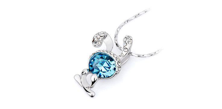 Nice Cute Rabbit #Indian #Jewelry #Swarovski #crystal #Pendant