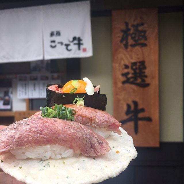 . . 加藤選手食べ物の写真を撮る腕を確実に上げていっております😊. . 自画自賛🐻🐹💗 . . . #飛騨高山 #岐阜 #飛騨牛 #肉寿司 #寿司 #肉 #中華そば #煮卵最高 #とろけるハーモニー #食 #nonfilter #food #sushi #japan #instafood #instatravel #foodstagram