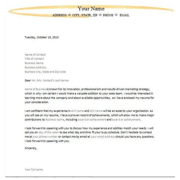 Letter Of Interest For Job Template | Job cover letter ...