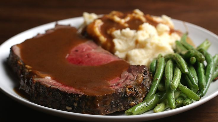 Prime Rib with Garlic Herb Butter - YouTube