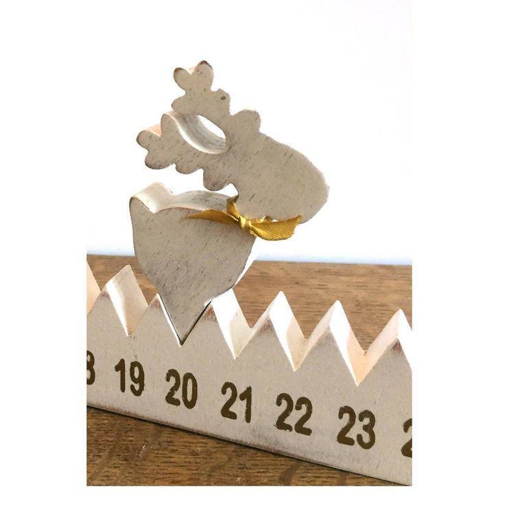 Adventskalender aus Holz mit Rentier. – #Mit #Holz #Kalender #von #L39 … #WoodWorking