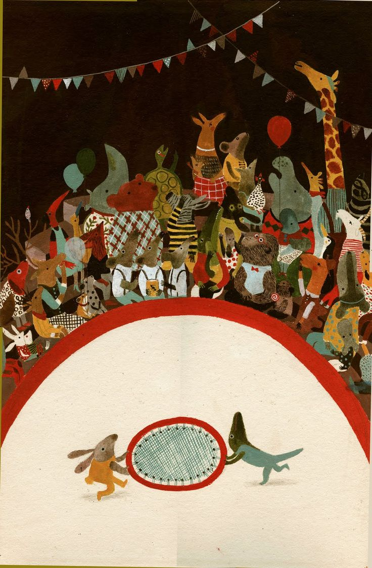 Violeta Lopiz..the carnival of the animals ...a night at the circus colllkids illustration
