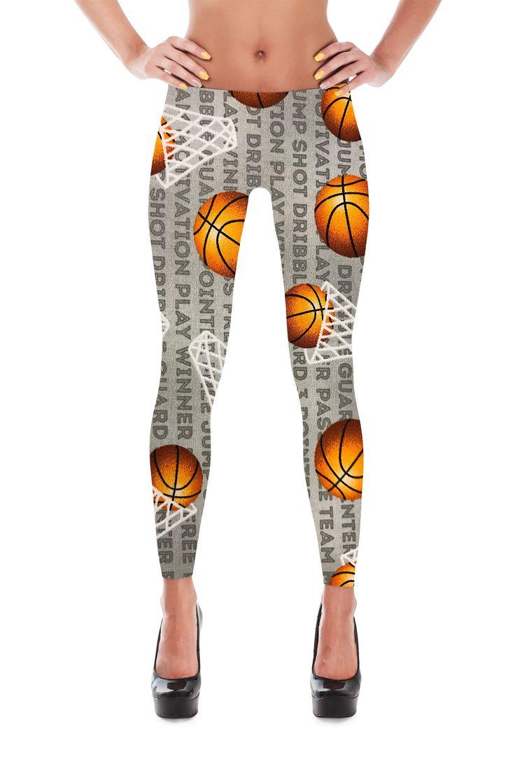 Basketball Leggings - Basketball print Leggings - Basketball Costume - NBL leggings - March Madness