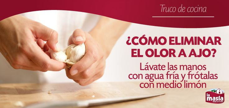El #ajo es un ingrediente muy usado en nuestra cocina, pero tiene un inconveniente: su olor. Si te cuesta trabajo eliminarlo, aplica nuestro truco. ¡Notarás la diferencia!