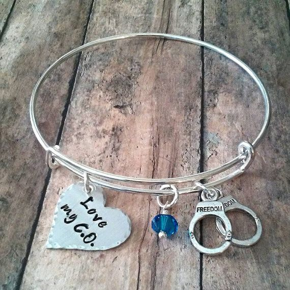 Corrections Officer Love My C.O. Bangle by tagsandthingsbyk