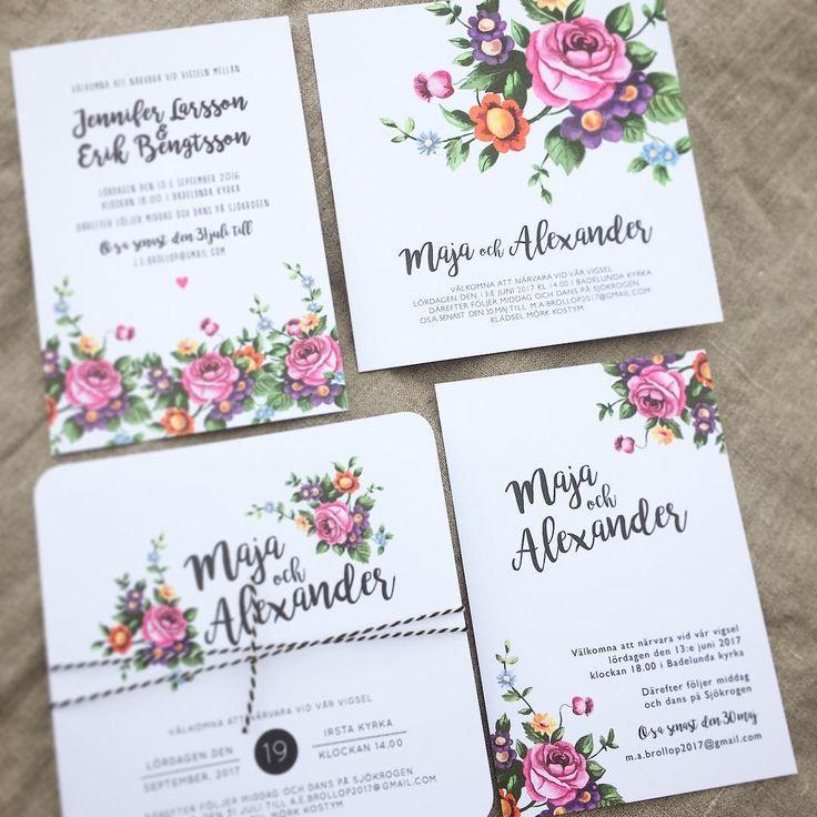 4 nya inbjudningskort - av en ny illustration. www.annagorandesign.se #blommorbröllop #bröllop #inbjudningskort #bröllopskort #bröllopsinbjudan #bröllopsinbjudning #inbjudan #bröllopsinspo #bröllopsinspiration