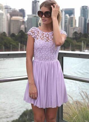 Casual Lavender Dress
