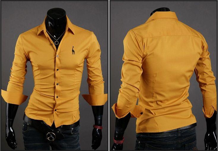 Camisa Casual Clasica Night Style - Amarillo