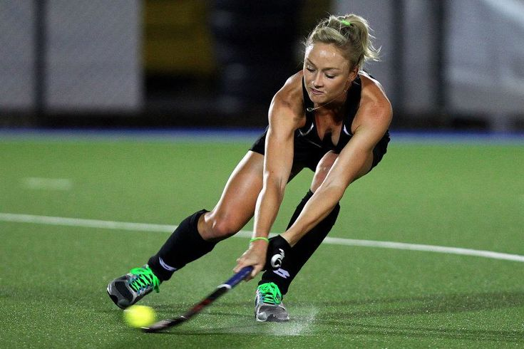 Anita Punt of New Zealand in a game v india
