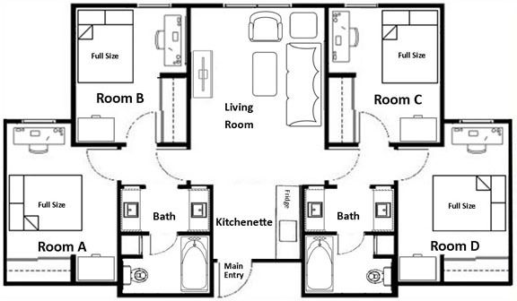 Student Housing Weatherford College Student House School Floor Plan Weatherford College