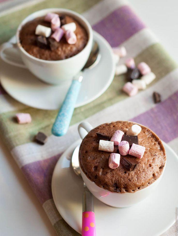Κουπάτο Κέικ Σοκολάτας στη Στιγμή - Chocolate Mug Cake. The Foodie Corner www.thefoodiecorner.gr