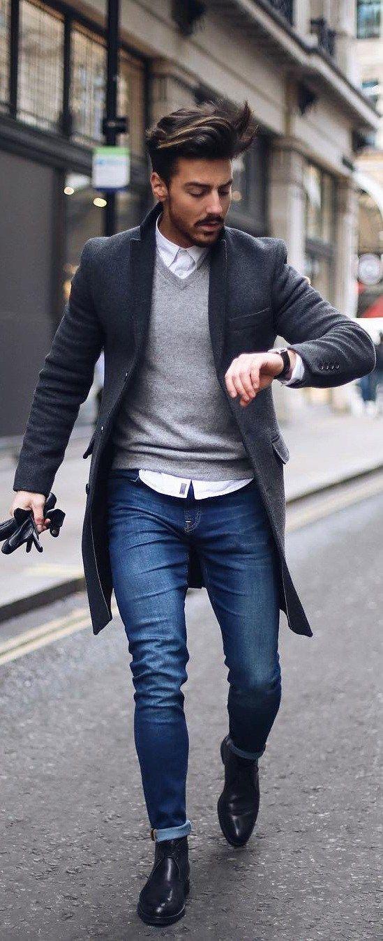 8d436566d How Men Should Style Their Overcoat | Men | Fashion, Mens fashion:__ ...