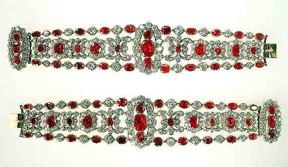 The End of the French Crown Jewels -- Their Sale and Dispersion A pair of ruby and diamond bracelets created for the duchess of Angouleme