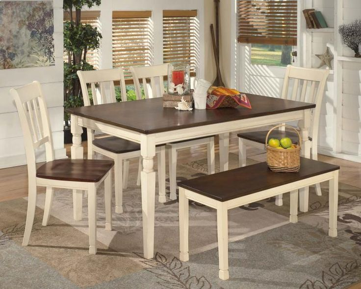Lowest Price On Signature Design By Ashley Whitesburg Brown Cottage White 6 Piece Rectangular Dining Room Set Shop Today