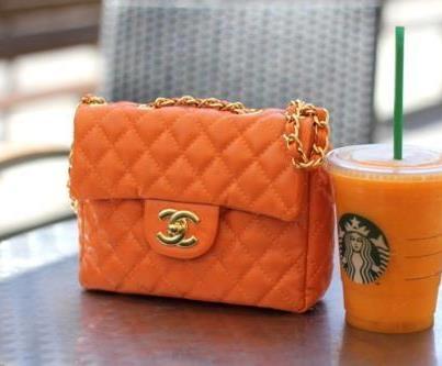 orange Chanel bag