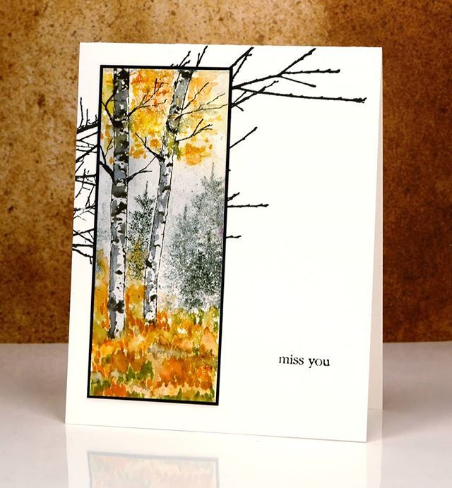 A glimpse of fall and some new trees from #pennyblackstamps…