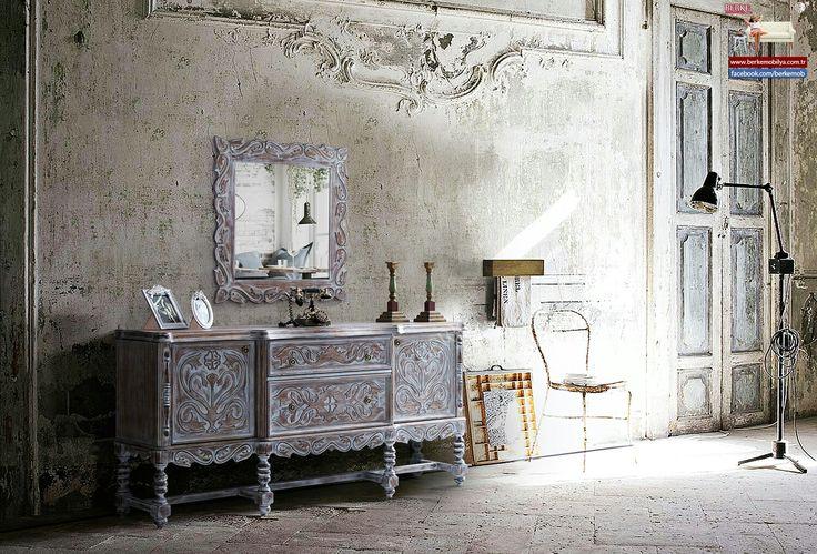 Antik yemek odası konsol vintage Berke Mobilya