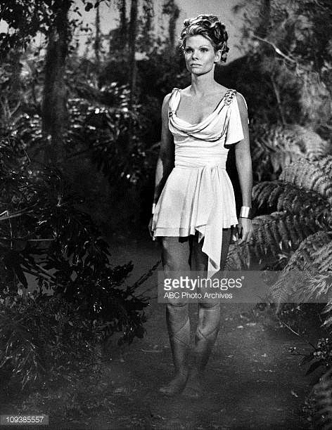Wonder Woman  Diana on Paradise Island  1974 Made for TV Movie  Cathy Lee Crosby  Black and White Photo