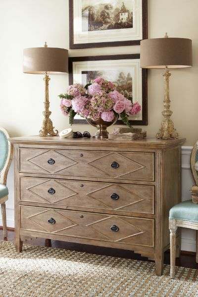 Nora Three Drawer Console - 3 Drawer Chest, Minimalist Chest, Walnut Chest | Soft Surroundings. As a dresser @christineluders
