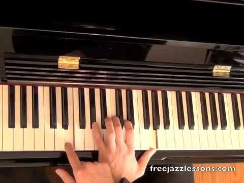 Left Hand Jazz Chord Progression Lesson 2-5-1-6