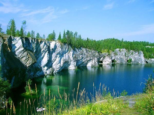 Мраморный каньон Рускеала Республика Карелия, деревня Рускеала