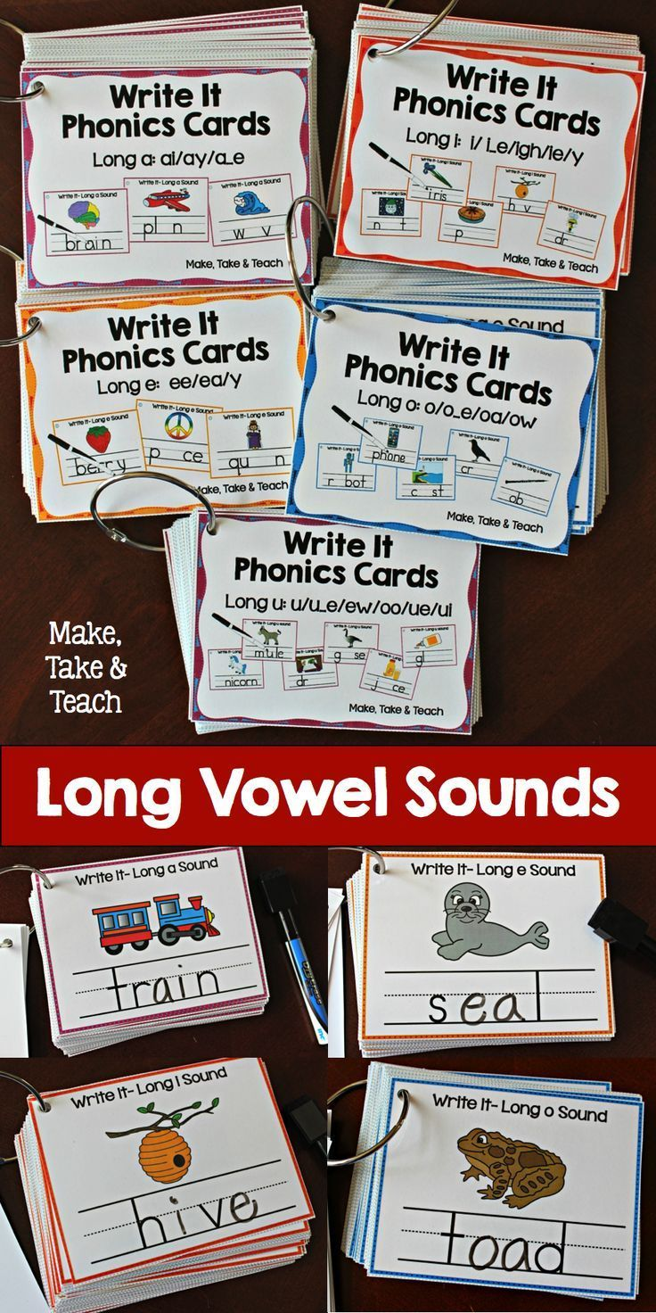 Over 275 phonics cards for teaching and practicing the long vowel spelling patterns!