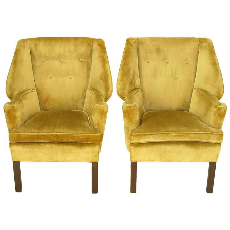 pair of uncommon 1940s georgian modern wing chairs