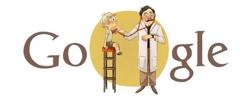 Doodle zum 150. Geburtstag von Adalbert Czerny: Ein Leben für die Kinder. Adalbert Czerny war ein deutscher Kinderarzt und Hochschullehrer. Er begründete die internationale Pädiatrieschule an der Berliner Charité und gilt als einer der Mitbegründer der modernen Kinderheilkunde. Wikipedia Geboren: 25. März 1863, Jaworzno