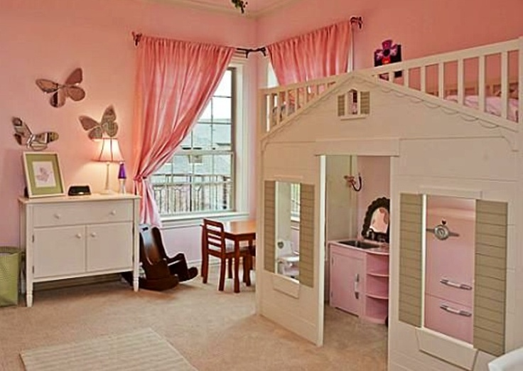 Loft Bed Over Playhouse :)