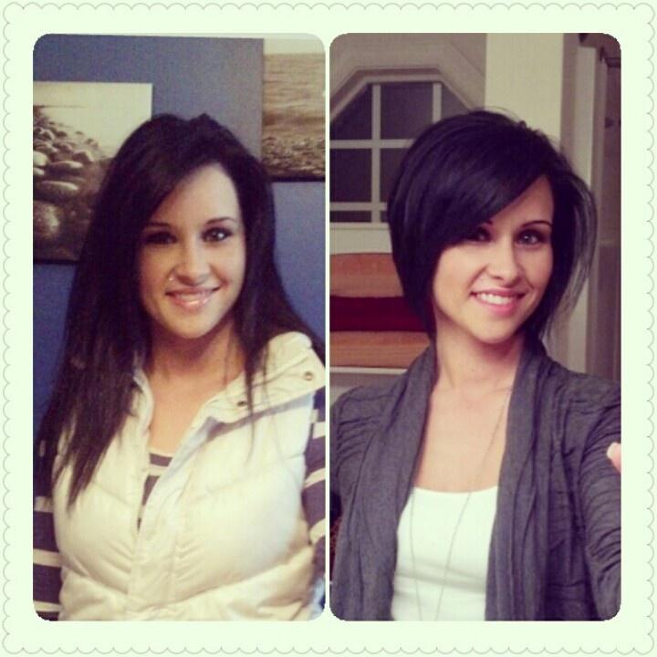 Short bob hair...before and after!: Short Hair, Naar Kort Er ...